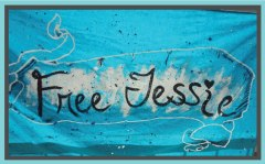 make banners to suport the free jessie burlew campaign in Phoenix, Arizona